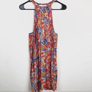 Floral American Eagle Open Back Dress D25